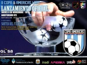 flyer sorteo de fixture Copa de las Americas