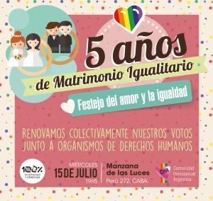 Flyer 5 años matrimonio TARJETON CUADRADO