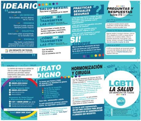 También se distribuyó material gráfico con información sobre prevención, derechos y acceso a la salud.