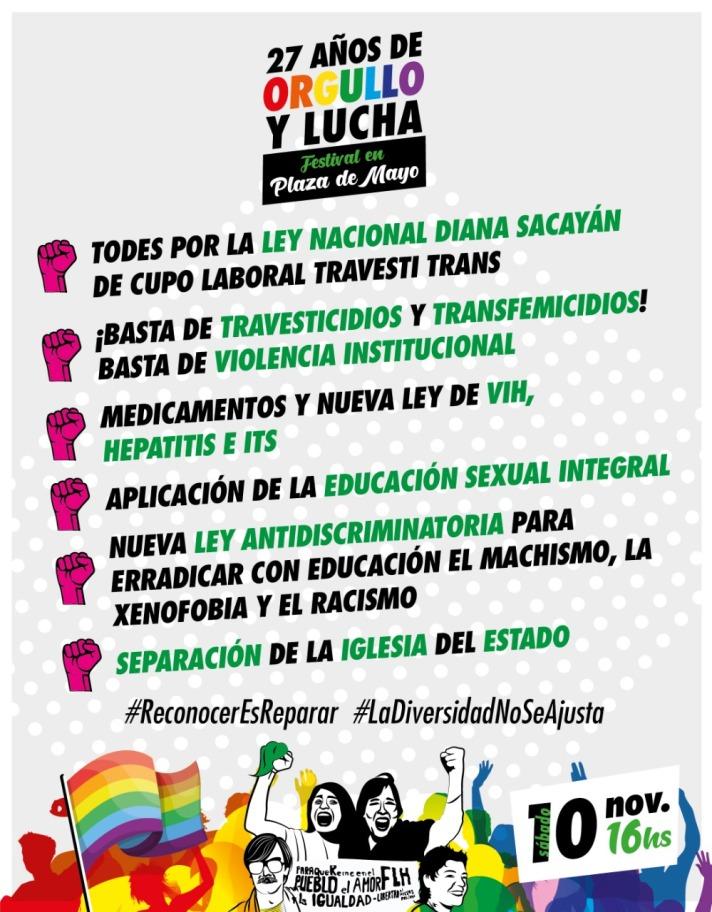 Flyer Festival Orgullo y Lucha