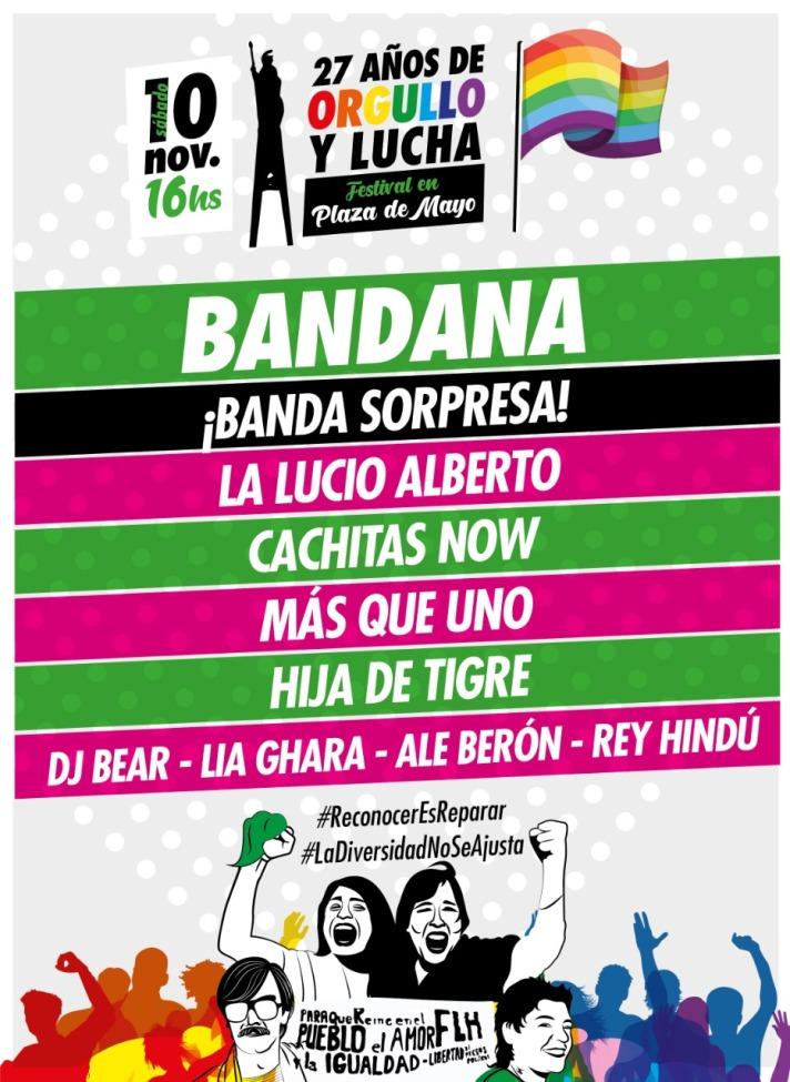 Flyer Festival Orgullo y Lucha Artisitica