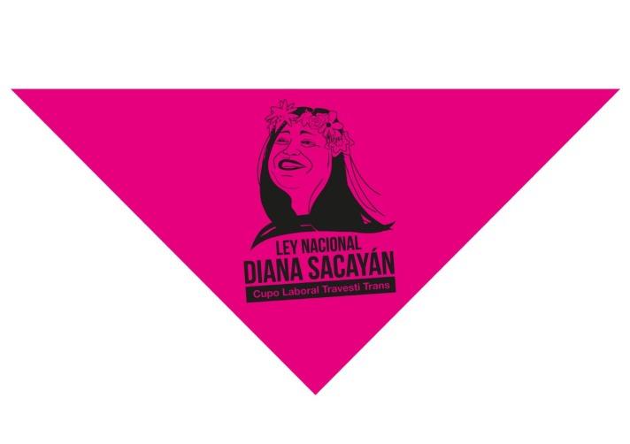 Panuelo Ley Nacional Diana Sacayan de Cupo Laboral Travesti Trans